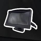 """Монитор для камеры заднего вида DS-5 Видеорегистратор Цветной автомобильный экран 5"""" с 2 видеовыходами, фото 4"""