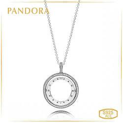 """Пандора Подвеска на цепочке """"Вращающиеся сердца Pandora"""" 397410CZ-60"""