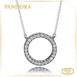 Пандора Подвеска на цепочке Сердца Pandora 590514CZ-45