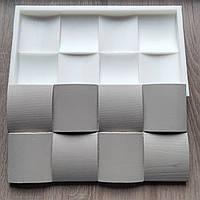 Силіконова форма для виробництва гіпсової 3Д панелі Блок-Хаус