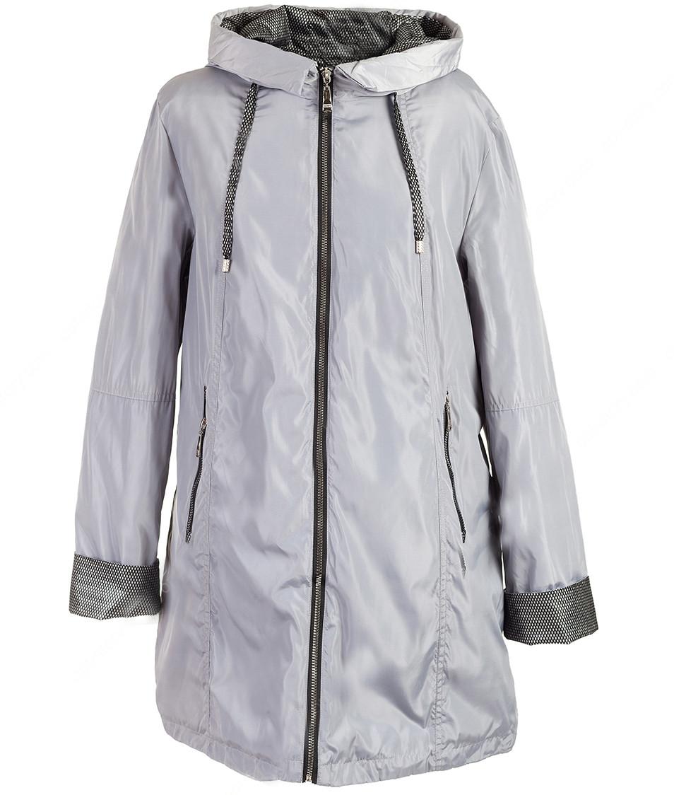 Жіноча весняна куртка з капюшоном великих розмірів