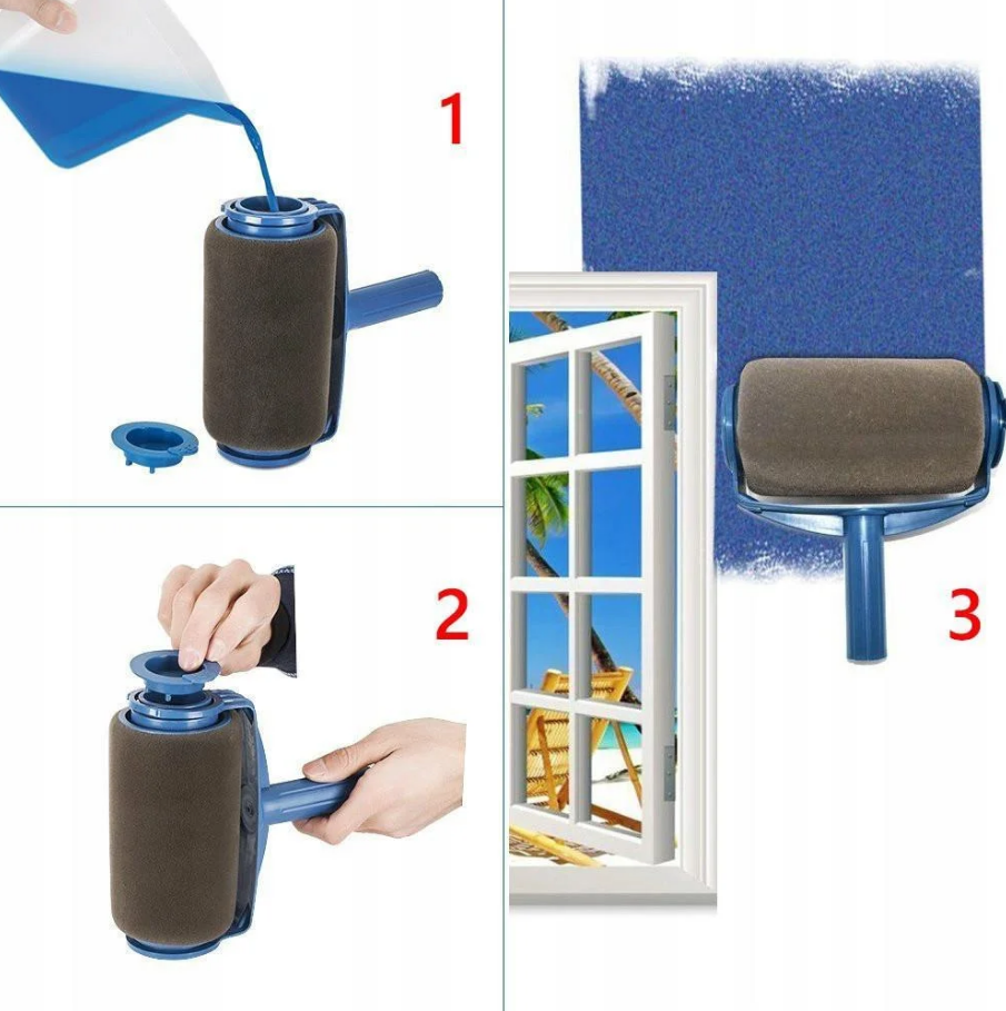 Валик PAINT ROLLER для фарбування поверхонь приміщень з резервуаром для фарби наповнення