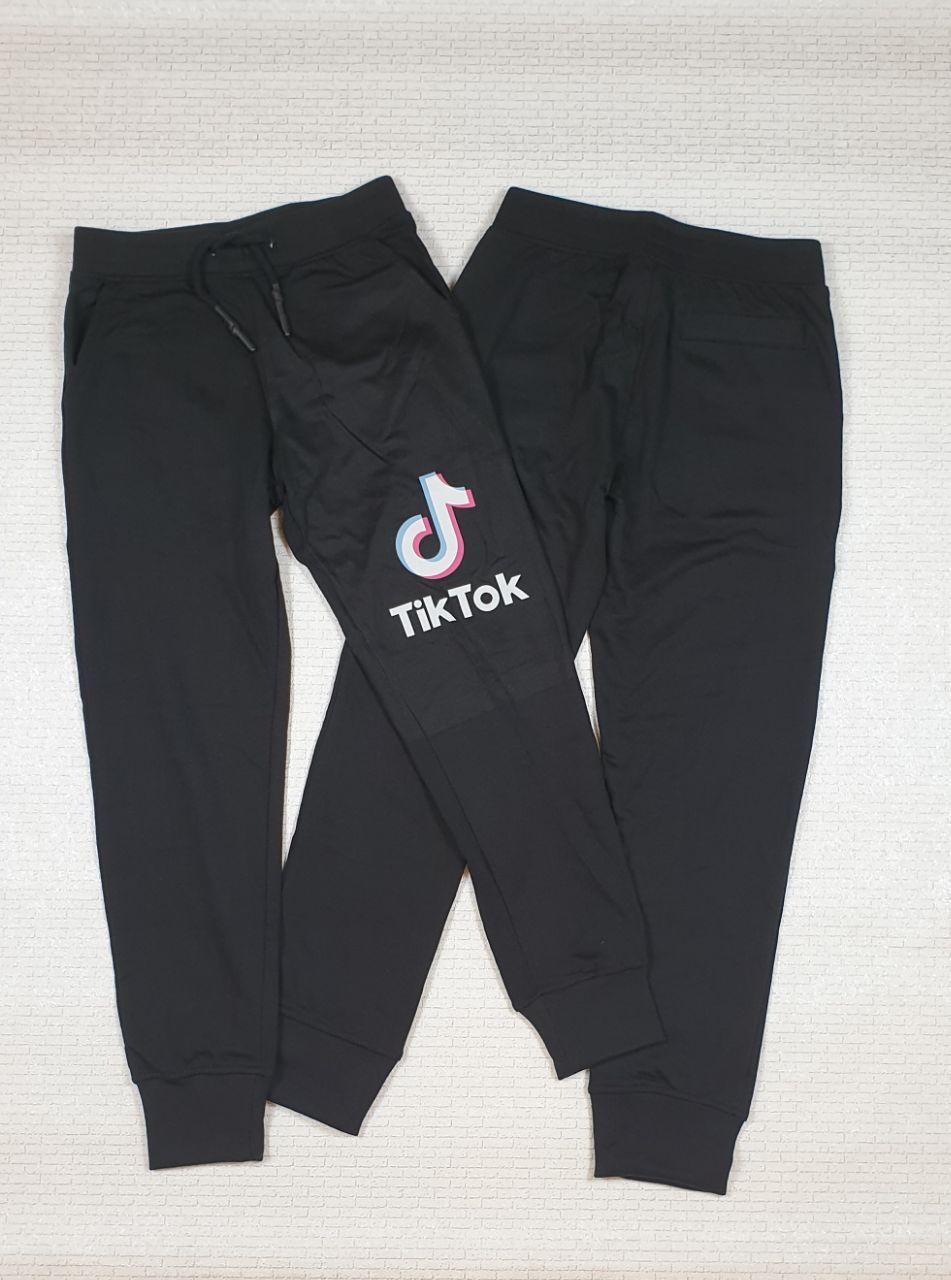 Штаны черные  трикотажные спортивные для мальчика  Тик ток на рост 158,164 см, Украина