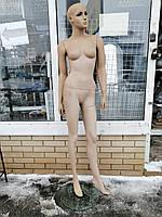 Манекен женский гипсовый на стеклянной подставке