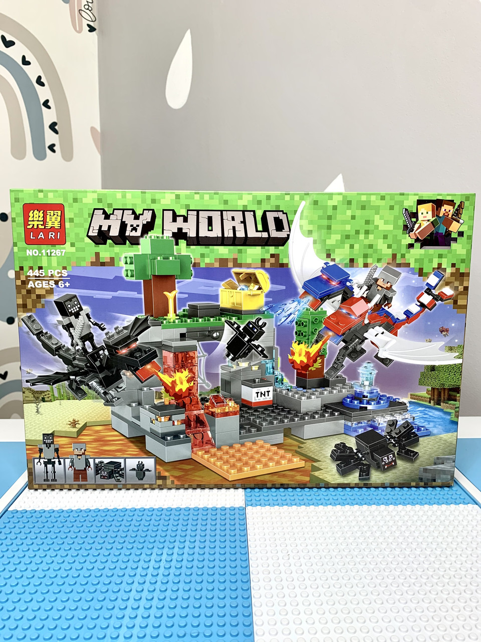 Конструктор Майнкрафт Minecraft Bela 11267 Битва драконов