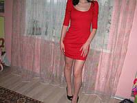 Маленькое красное  платье H&M наряд для нового года