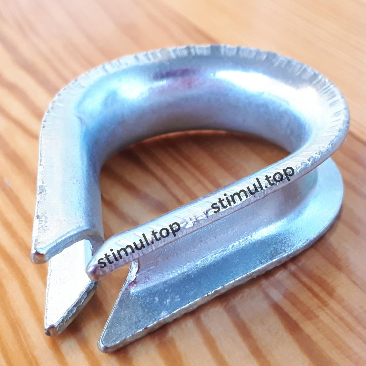 Коуш для троса Ø 5 мм   DIN 6899   Коуш для стальных канатов оцинкованный   Коуши оцинковані для канатів