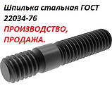 Шпилька М8 ГОСТ 22034-76 з кінцем ввинчиваемым, фото 5