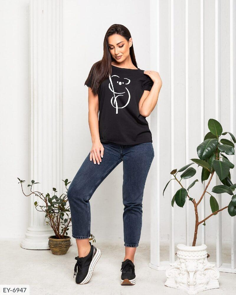 Жіноча футболка з накатом (Батал)