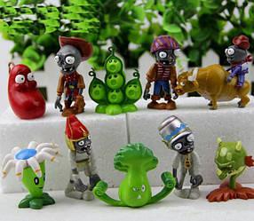 Набір №8 Рослини проти зомбі PopCap Games Plants vs Zombies 10 фігурок КОД: 8nabor