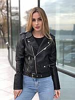 Куртка косуха черная женская весенняя еко кожа M, L, XL