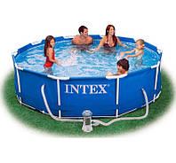 Intex 28202, каркасный бассейн 305 x 76 см Metal Frame Pool