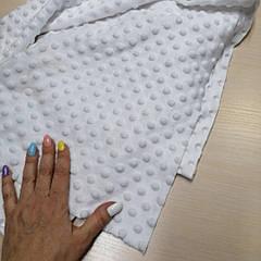 Плюш точка белый, кусок 160х55 см.