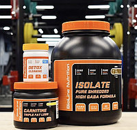 Для набора сухой мышечной массы! Сывороточный протеин Изолят, жиросжигатель и детокс в подарок!