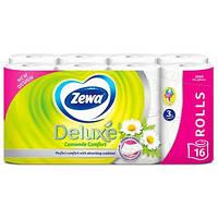 Туалетний папір Zewa Deluxe Camomile comfort (Ромашка) 16 шт.