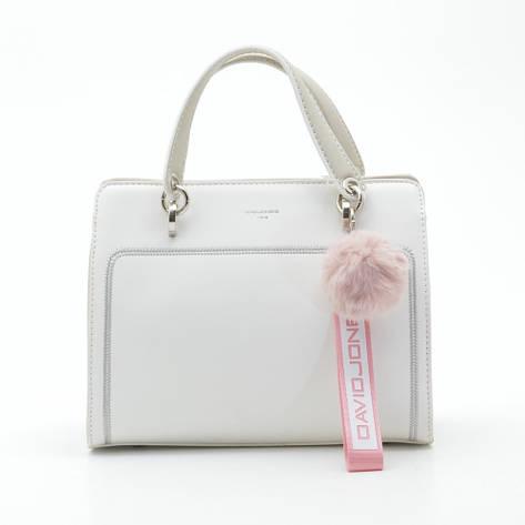 Жіноча сумка-клатч David Jones 5993-2T белая, фото 2