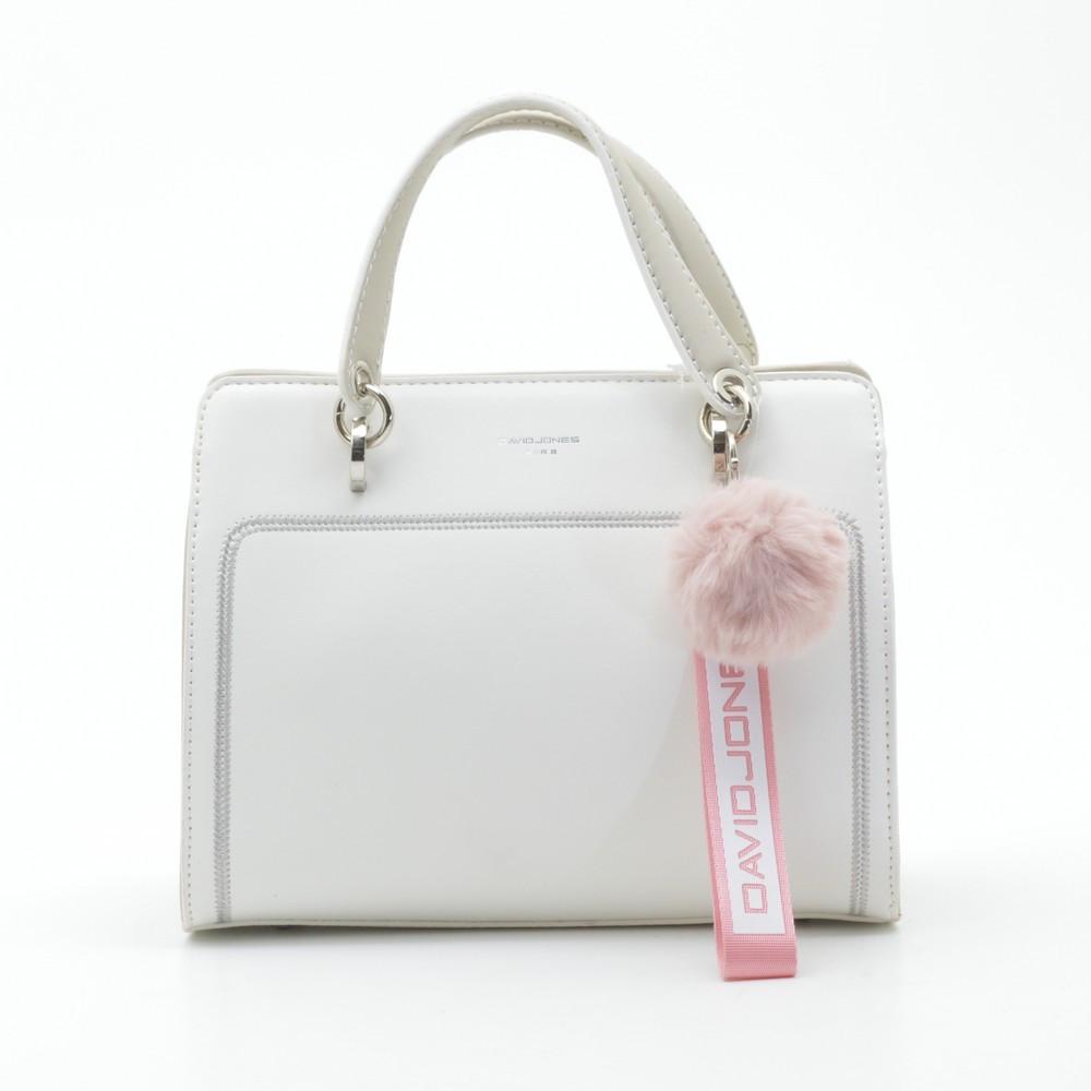 Жіноча сумка-клатч David Jones 5993-2T белая