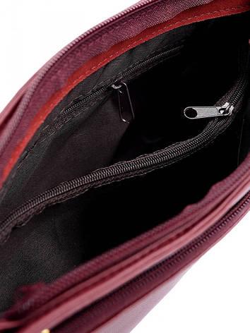 Клатч натуральная кожа 10289 W.красный, фото 2