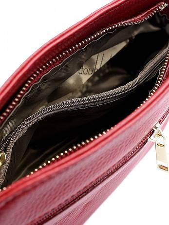 Клатч натуральная кожа 837 красный, фото 2