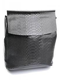 Женская кожаная сумка-рюкзак 8504-4 серая Case