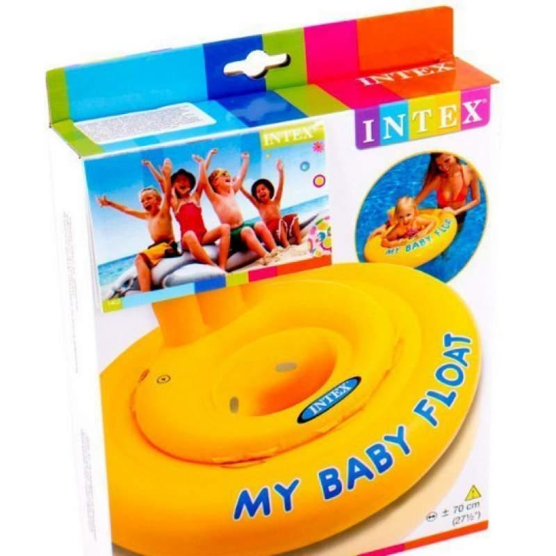 Детский надувной круг Intex плотик ходунки от 6-12 месяцев арт. 56585