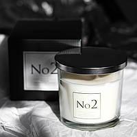 Свеча ароматическая в стекле Премиум №2 для дома Bispol два фитиля