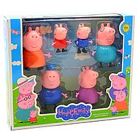 Детский игровой набор фигурок «Семья Свинки Пеппы», 6 штук (PP605-6)