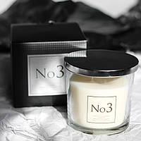 Свеча ароматическая в стекле Премиум №3 для дома Bispol два фитиля