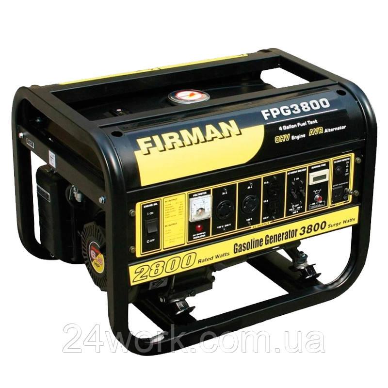 Электро генератор на 220В бензиновый FIRMAN FPG 3800
