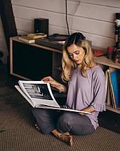 Жіноча піжама бузкового кольору Luna 003