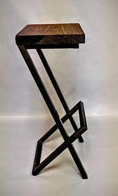 Барный стул GoodsMetall в стиле ЛОФТ 750х350х350 БС224 КОД: БС224