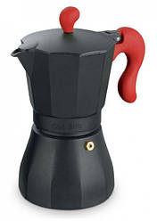 Гейзерна кавоварка Con Brio CB-6606 на 6 чашок | турка Con Brio червона