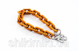 Акриловая цепь металлик, медь
