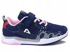 Кроссовки синие american club (польша) для девочек