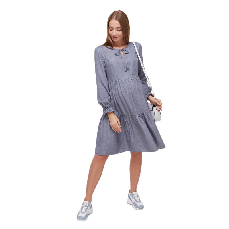 Платье для беременных и кормящих ЮЛА МАМА Jeslyn (размер XS, серый)