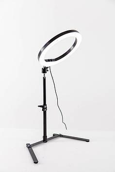 Кольцевая светодиодная LED-лампа LUMERTY (25см - 20w) на настольном штативе
