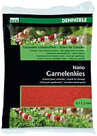 Грунт для мини-аквариумов Dennerle Nano Garnelenkies Indischrot (красный), фракция 0,7-1,2 мм., 2 кг