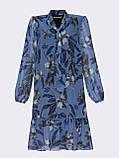 Платье из шифона в цветочный принт с воланом по низу, фото 10