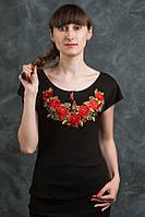 Красивая и стильная футболка-вышиванка