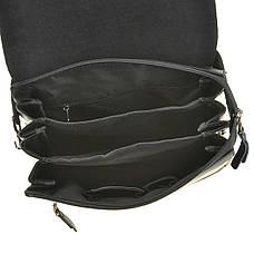 Мужская сумка кожаная GORANGD вертикальная  26х33х9  кт886-5, фото 2