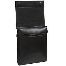 Мужская сумка кожаная GORANGD вертикальная  26х33х9  кт886-5, фото 3