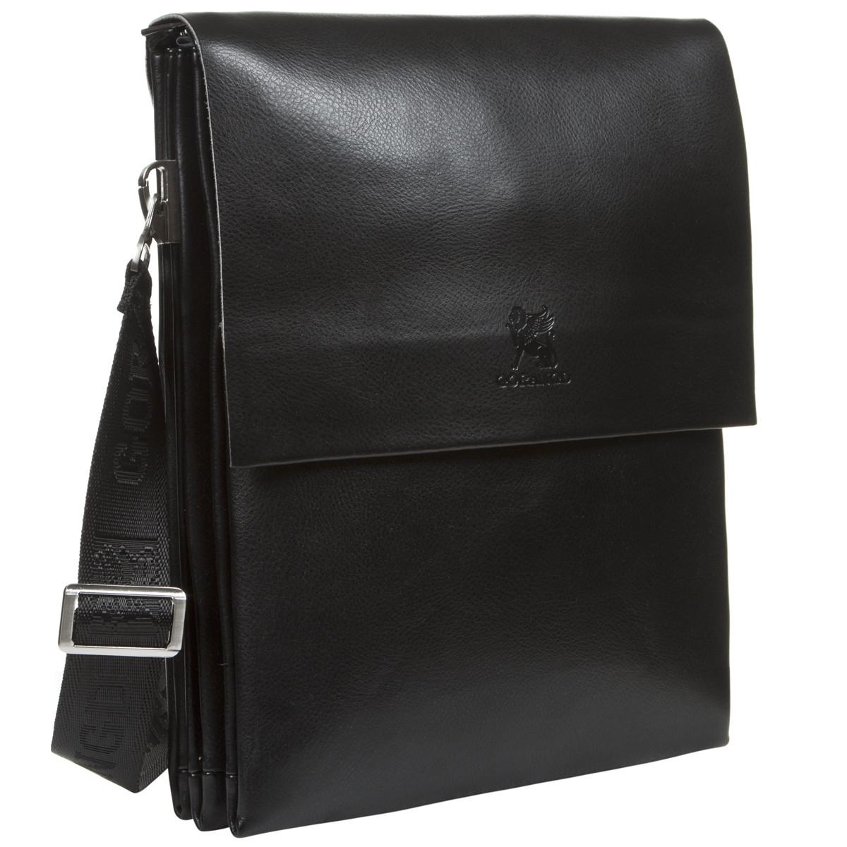 Мужская сумка кожаная GORANGD вертикальная  26х33х9  кт886-5