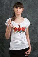 Милая футболка с вышитыми цветами