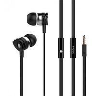Наушники проводные Celebrat D1 черного цвета стерео звук для телефона шумоподавляемые.