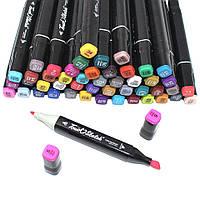Набор маркеров Touch 48 штук для рисования скетчинга Фломастеры Sketchmarker двухсторонние на спиртовой основе