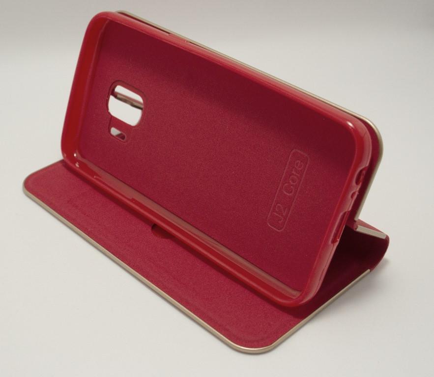Чехол-книжка для Samsung Galaxy J2 Core J260 красный Florence TOP №2