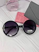 Женские солнцезащитные круглые очки черного цвета модные 2021