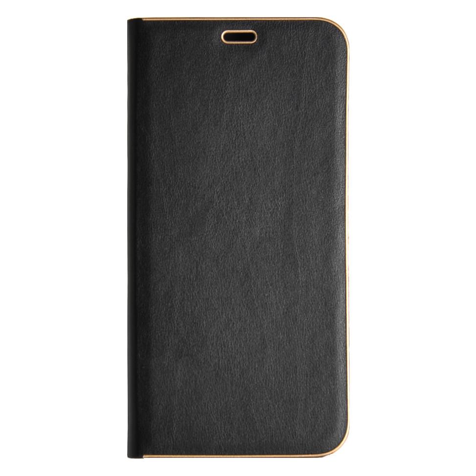 Кожаный чехол-книжка для Samsung Galaxy J6 J600 чёрный Florence TOP №2