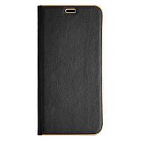 Кожаный чехол-книжка для Samsung Galaxy J6 J600 чёрный Florence TOP №2, фото 1