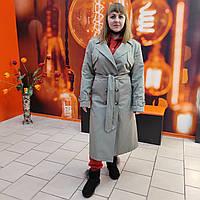 Женский двубортный плащ тренч украинского бренда оливка